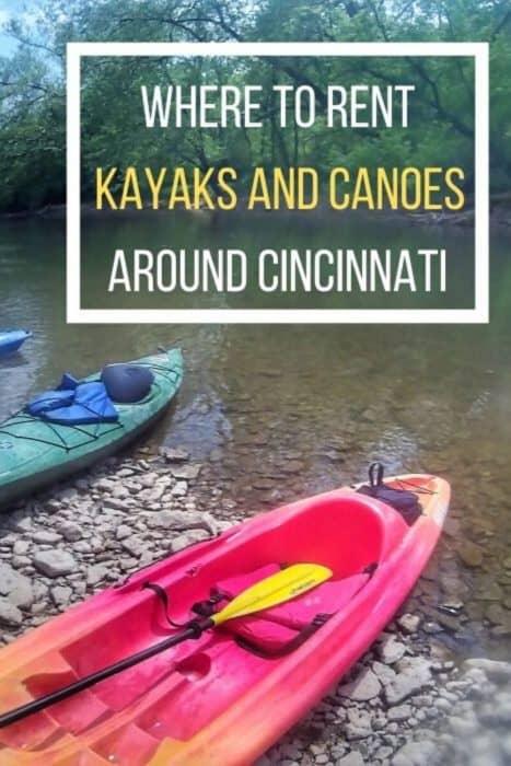 Where to Rent Kayaks and Canoes Around Cincinnati