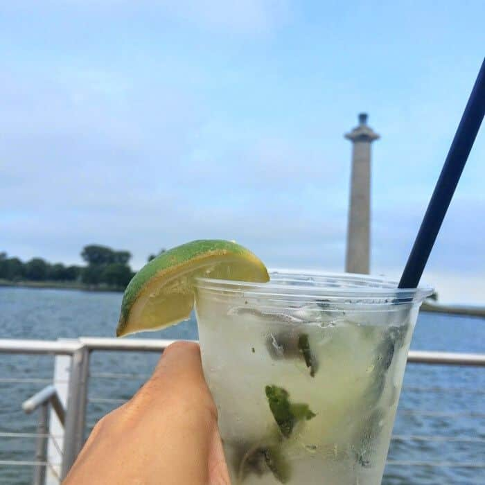 drink with a view on Put in Bay island