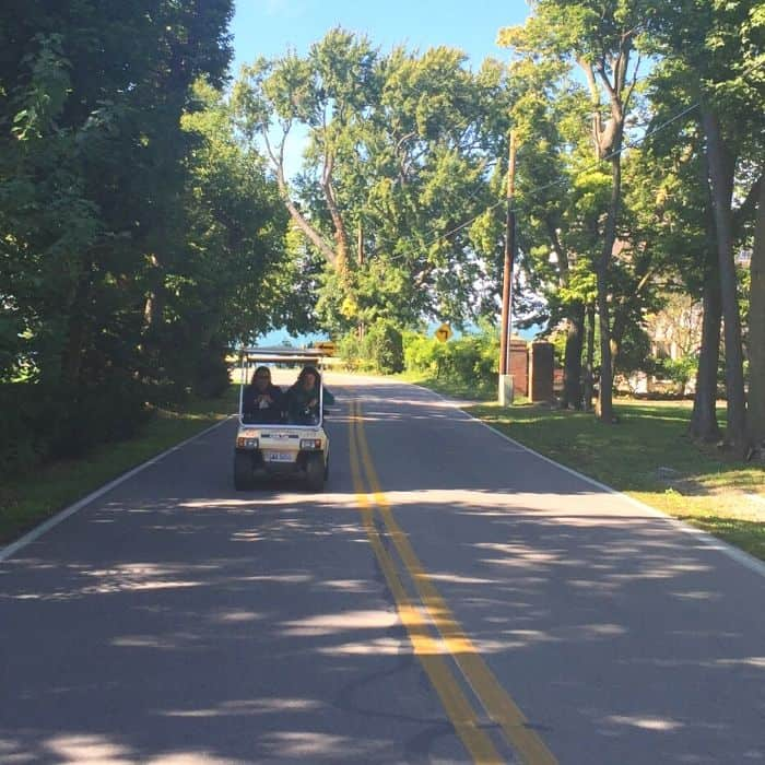 golf cart on road on Put in Bay Island