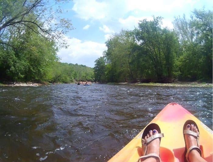 kayak rental on the river