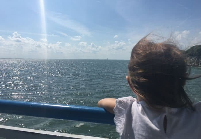 little girl on Miller Ferry