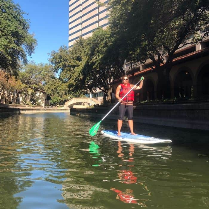 stand up paddleboarding with SUP NTX in Las Colinas