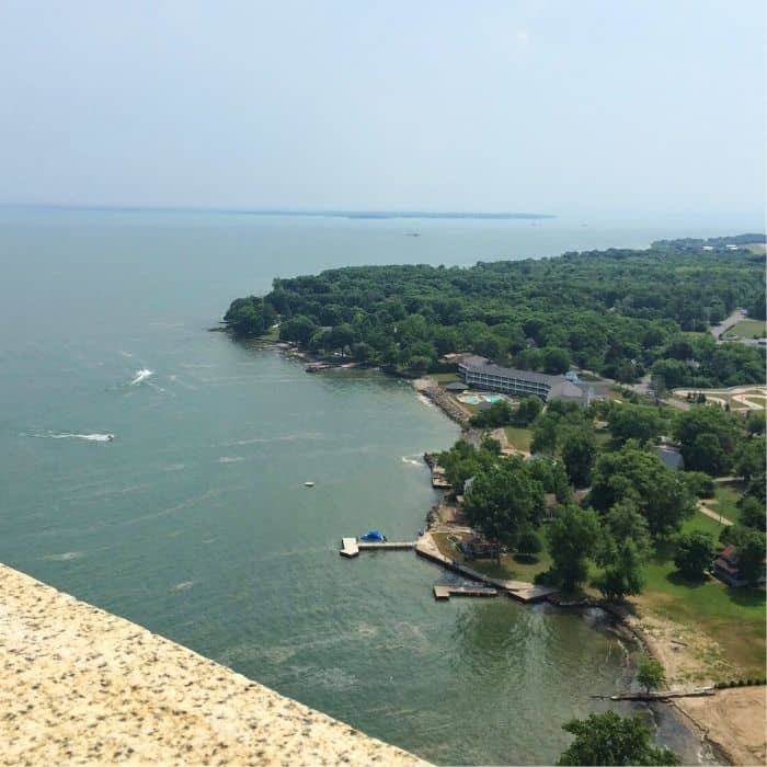 view from Perry Monument Put-in-Bay