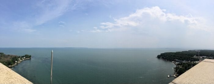 view from Perry Monument on Put in Bay Island