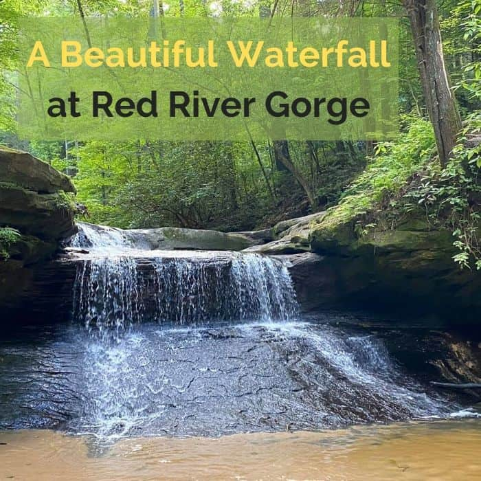 A Beautiful Waterfall at Red River Gorge
