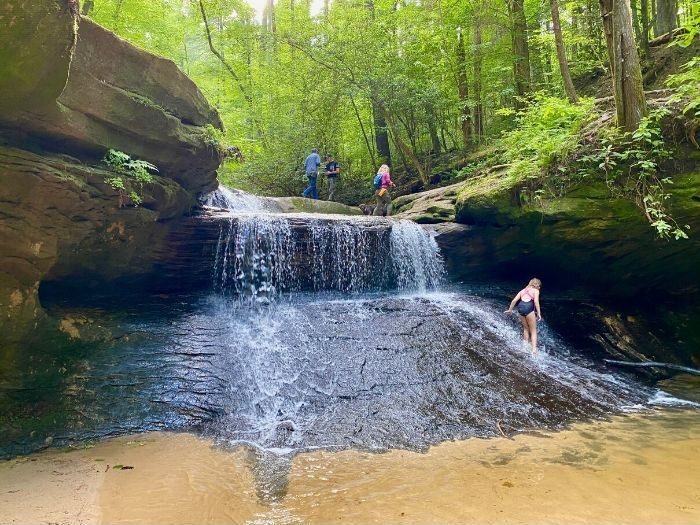 Creation Falls Waterfall at Red River Gorge