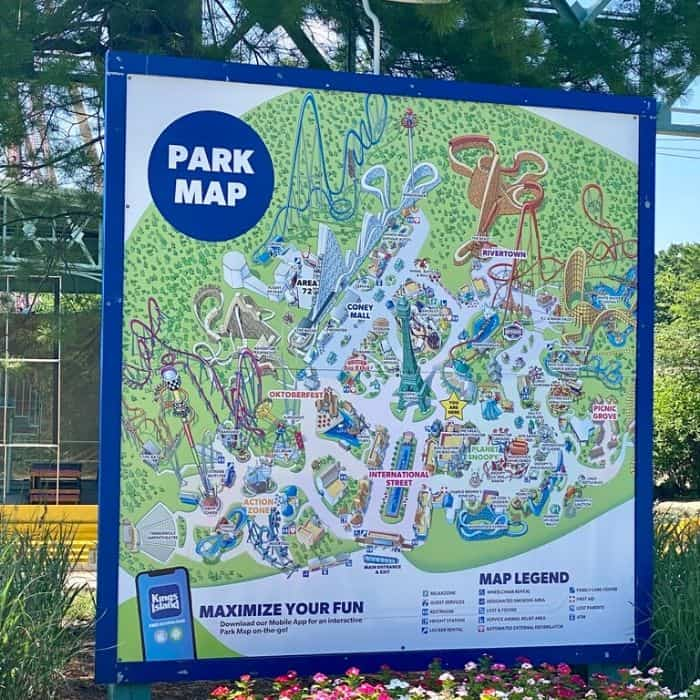 park map at Kings Island