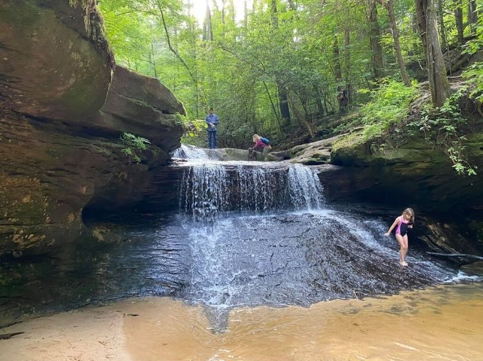Creation Falls waterfall at Red River Gorge in Kentucky