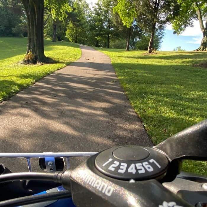 Buzz E-bike going up a hill