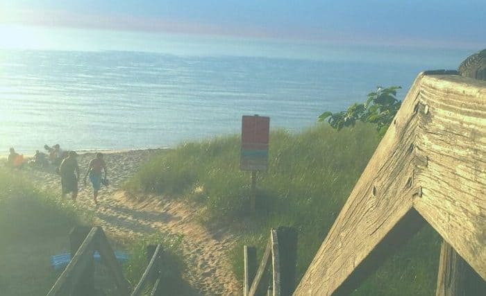 beach in South Haven Michigan