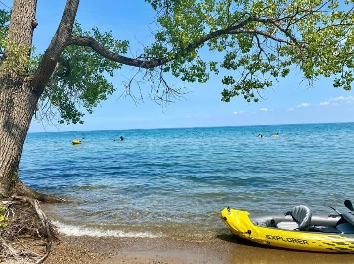 Beach in Port Huron Michigan
