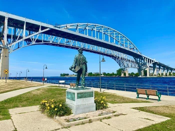 Thomas Edison Statue in Port Huron