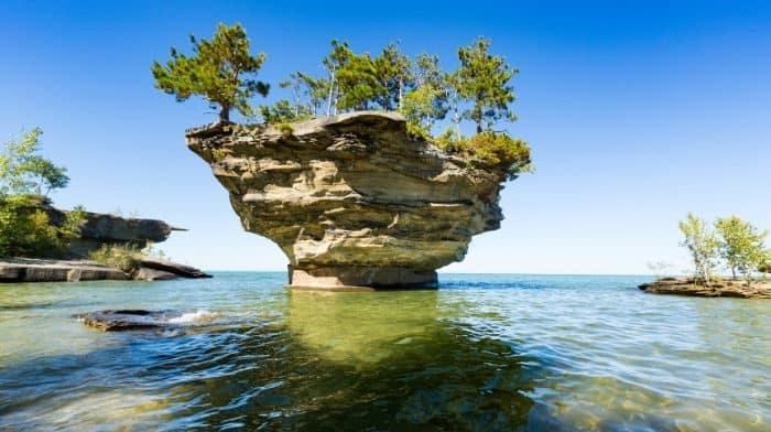 Turnip Rock in Michigan