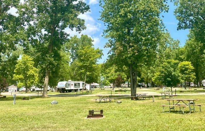campground sites at Port Huron KOA