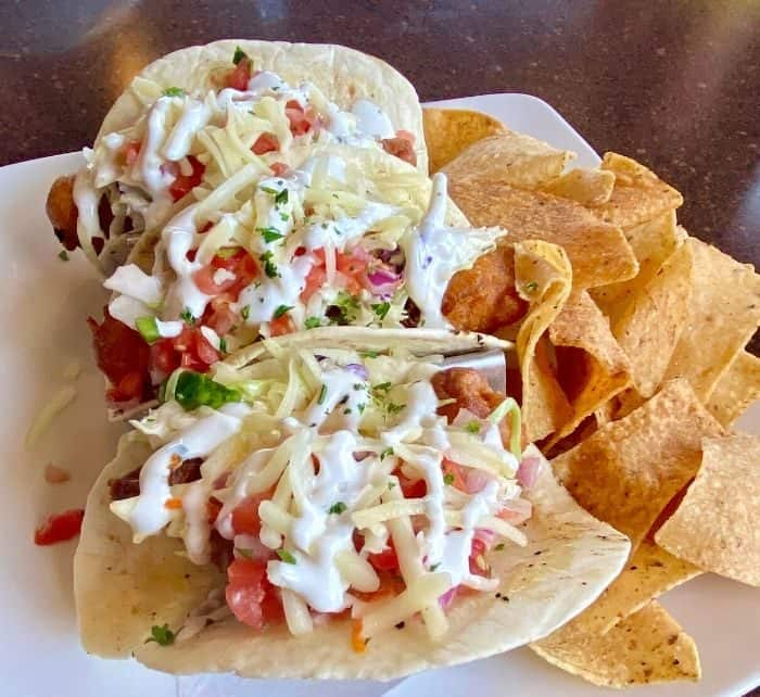 fish tacos at Freighters in Port Huron