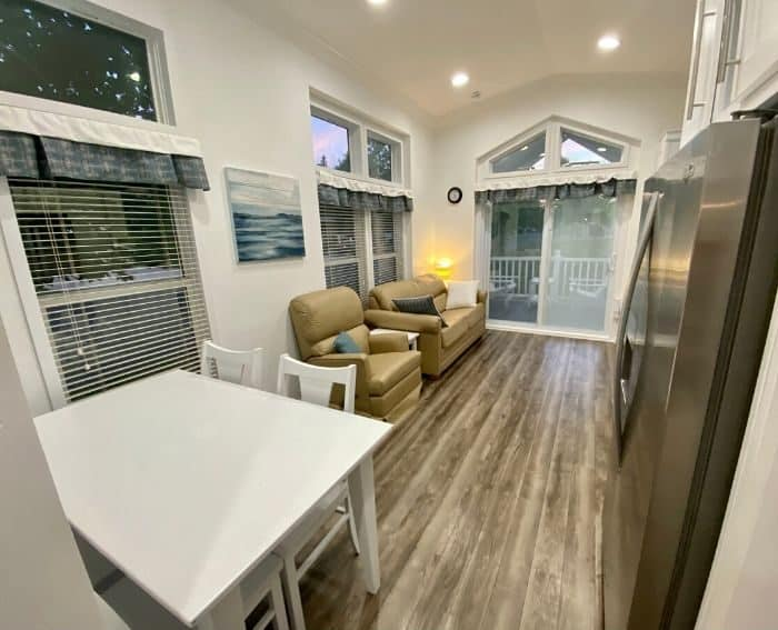 inside the Premium Cottage at Petoskey RV Resort