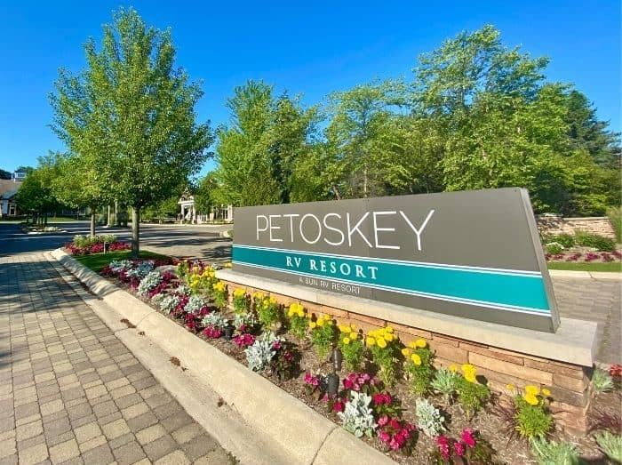 sign for Petoskey RV Resort