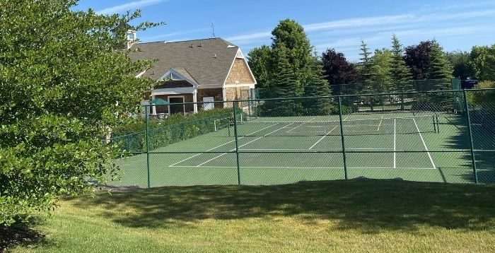 tennis court at Petoskey RV Resort