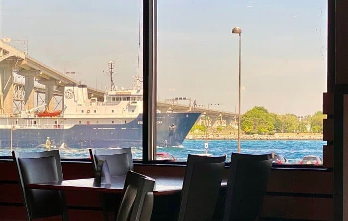view from Freighter's Restaurant