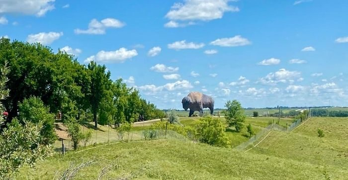 """The World's Largest Buffalo"" in Jamestown North Dakota"
