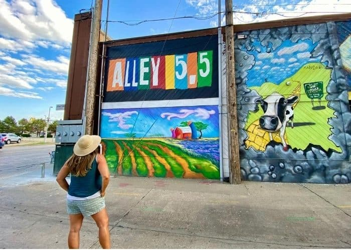 Alley 5.5 art alley in Bismarck ND