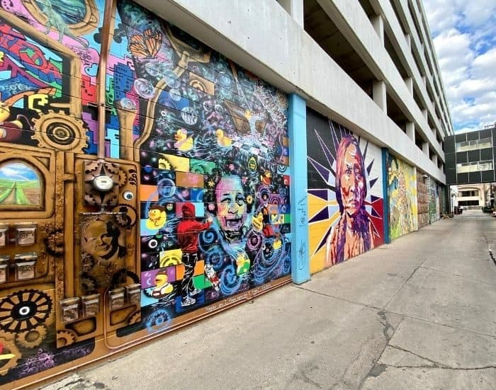 Alley 5.5 murals in Bismarck North Dakota