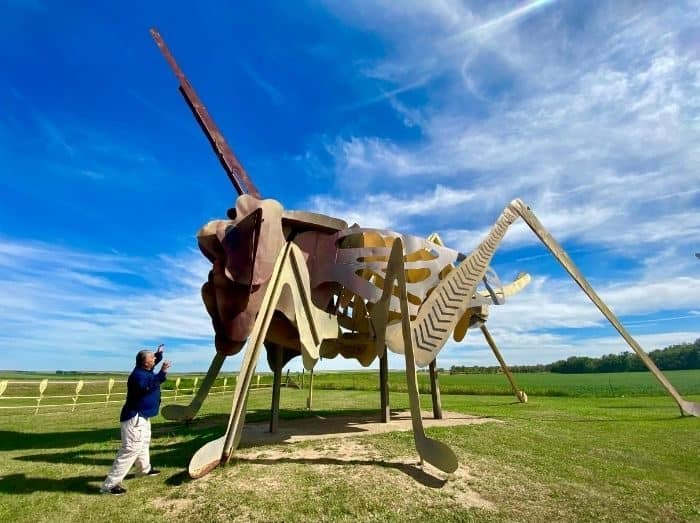 Giant Grasshopper on the Enchanted Highway in North Dakota