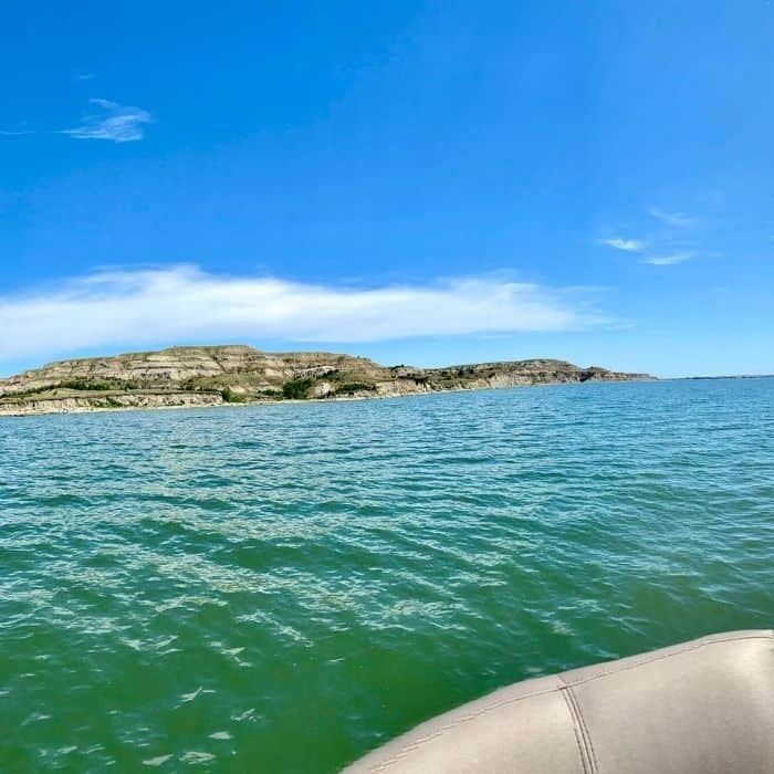 Lake Sakakawea in North Dakota