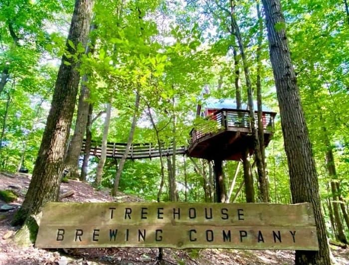 Little Red Treehouse at the Mohican Treehouse Brewing Company