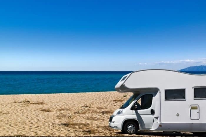 RV near the beach