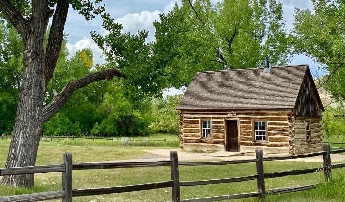 Theodore Roosevelt's former cabin in North Dakota