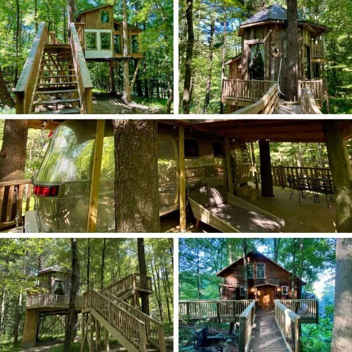 Treehouse rentals at the Mohicans