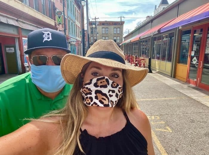 adventure mom and husband on self guided food tour at Findlay Market