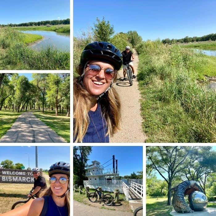 bike trails in Bismarck North Dakota