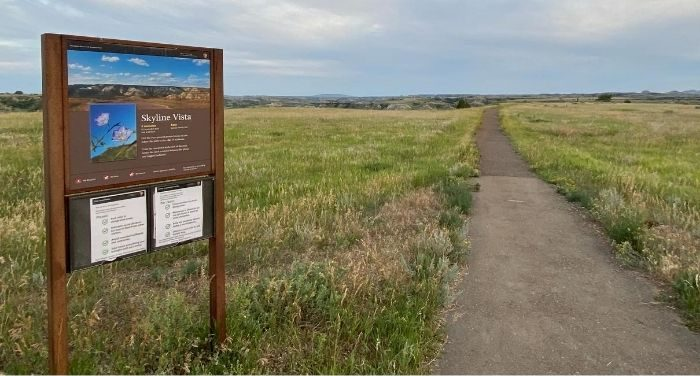 hiking trail at Theodore Roosevelt National Park in North Dakota