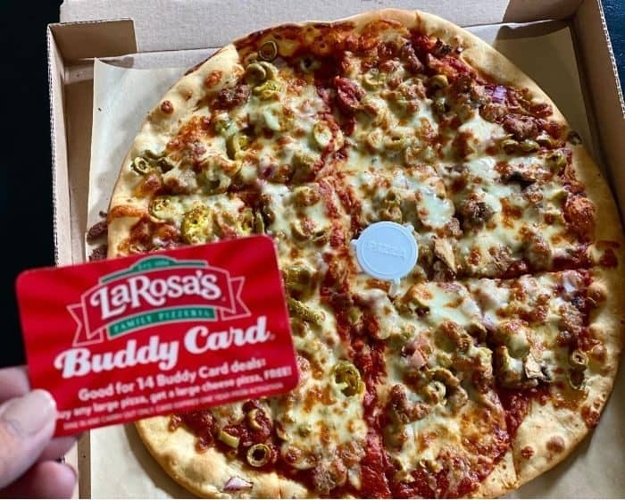 Fundraiser LaRosa's Buddy Card with LaRosa's Pizza