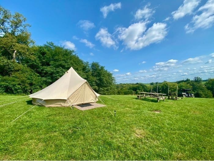 Glamping adventure with the Pop-Up BNB at Hidden Lake Farm