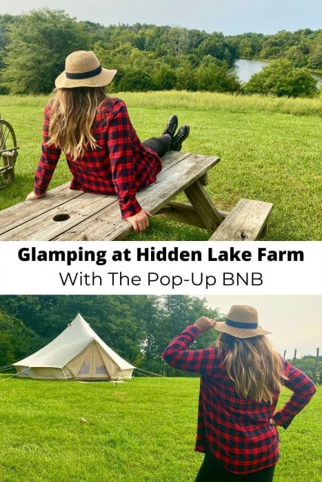 Glamping at Hidden Lake Farm With The Pop-Up BNB