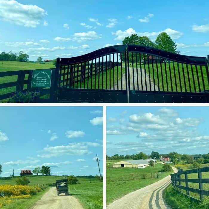 entrance at Hidden Lake Farm in Kentucky