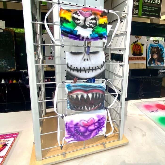 Masks at Kings Island Tricks and Treats Fall Fest