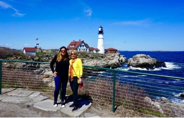 Nedra McDaniel at Portland Head Lighthouse