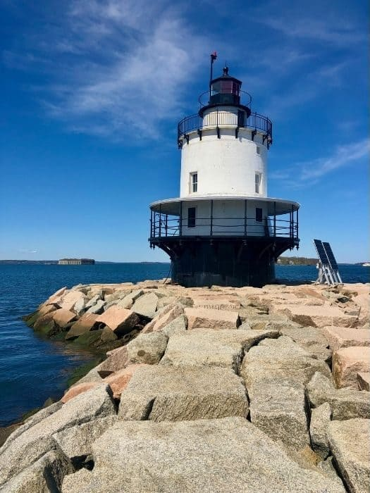 Spring Point Ledge Lighthouse in Maine