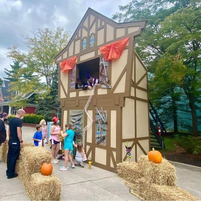 Trick or treat station at Kings Island Fall Fest