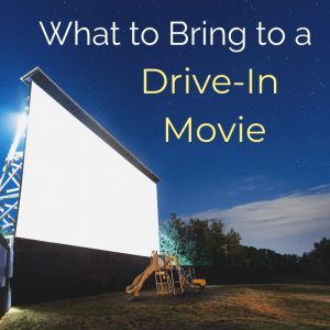 What to Bring to a Drive-in Movie