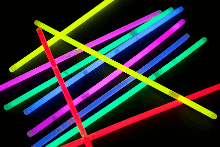 colorful glow sticks