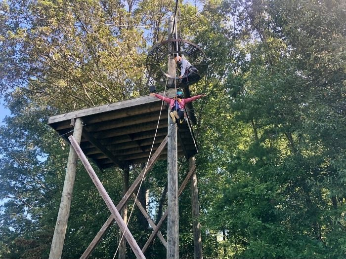 drop zone at Sheltowee Trace Adventure Resort