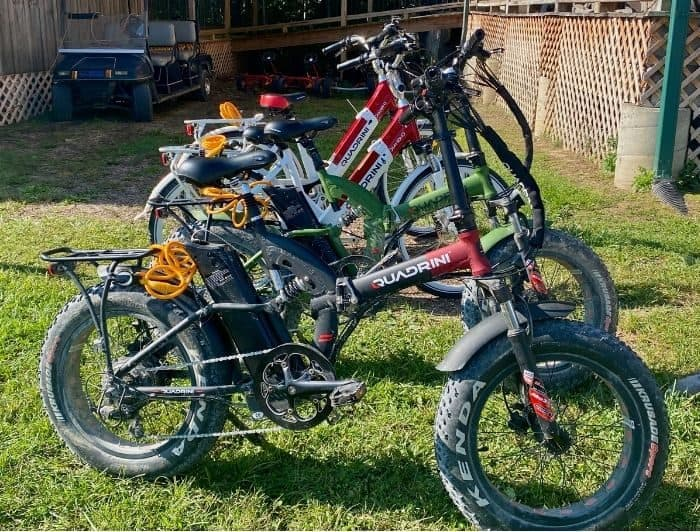 electric bike rentals at Sheltowee Trace Adventure Resort