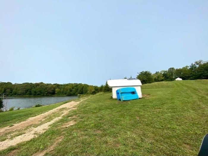 glamping tent with the Pop-up BNB near the lake