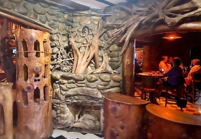 inside the Legs Inn restaurant in Northern Michigan