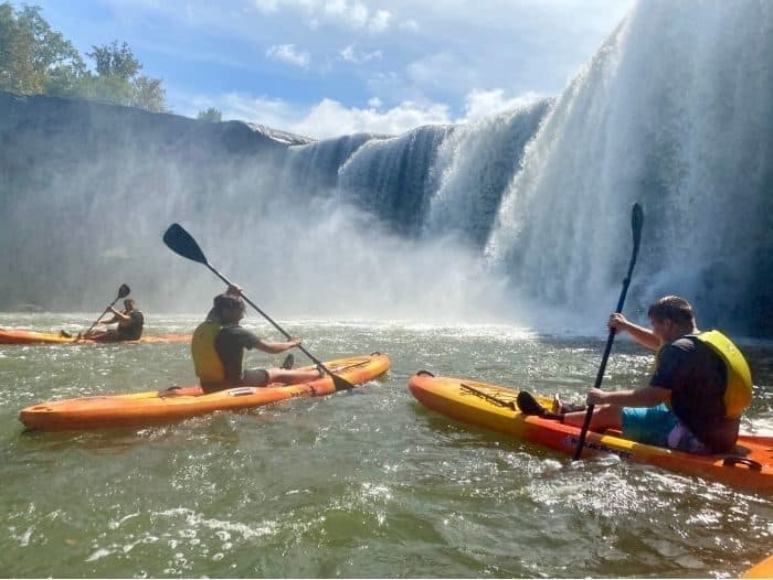 kayak at Cumberland Falls